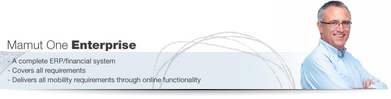 Mamut One Enterprise is een compleet ERP-/administratiesysteem met een zeer flexibele toepassing